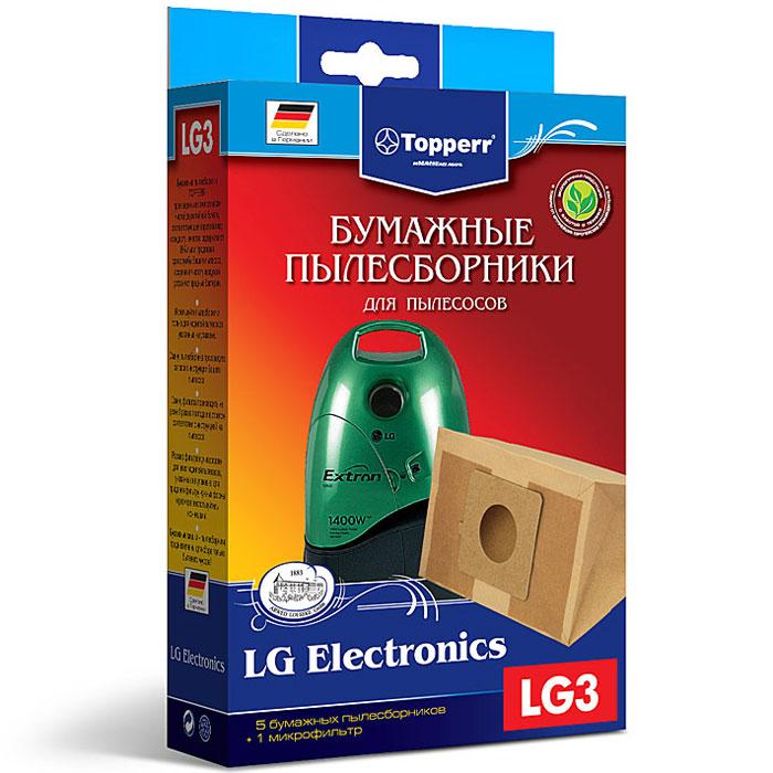 Topperr LG 3 фильтр для пылесосов LG Electronics, 5 шт