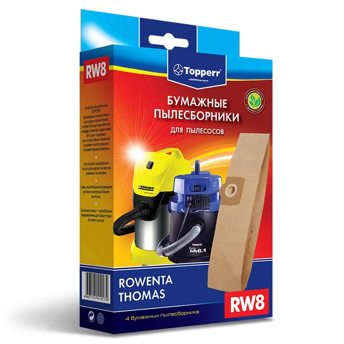 Topperr RW 8 фильтр для пылесосов Rowenta, 4 шт