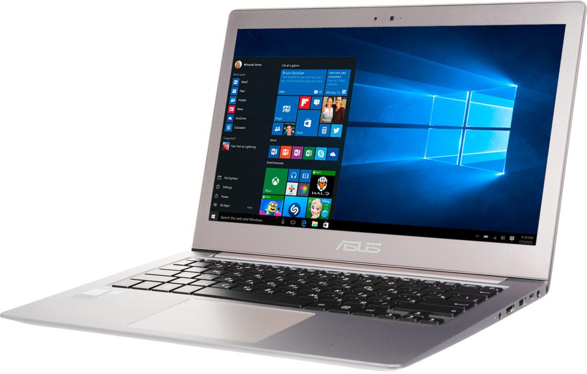 ASUS ZenBook UX303UA, Smoky Brown (UX303UA-R4364T)UX303UA-R4364TМобильный компьютер Zenbook UX303 отличается от конкурентов оригинальным дизайном и невероятно компактным алюминиевым корпусом, который становится еще тоньше по мере движения от задней к передней части. Практичность и высокая производительность сочетаются в них с привлекающим взгляд изяществом. 13,3-дюймовый дисплей данного ультрабука обладает разрешением 1920х1080 пикселей, выдавая невероятно четкую картинку. Яркость экрана составляет 300 кд/м2, а контрастность - 770:1. Кроме того, матовое покрытие дисплея минимизирует блики. Эксклюзивная технология Splendid позволяет быстро настраивать параметры дисплея в соответствии с текущими задачами и условиями, чтобы получить максимально качественное изображение. Всего доступно четыре режима настройки, поэтому пользователь легко может выбрать тот, который оптимально подходит для приложений различных типов. Скорость доступа к файлам является немаловажным фактором в общей производительности...