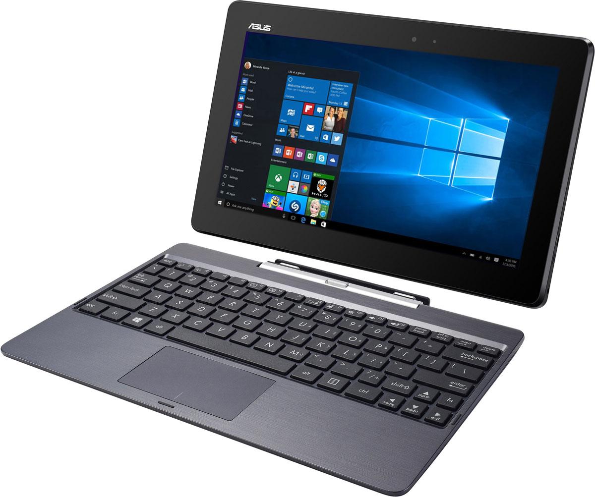 Asus Transformer Book T100TAF (T100TAF-W10-DK076T)T100TAF-W10-DK076TAsus Transformer Book T100TAF - это универсальное гибридное мобильное устройство, сочетающее в себе функциональность ноутбука с тонким корпусом планшетного компьютера. Особая конструкция крепления дисплея, в основе которой лежит магнит, является по-настоящему удобным и надежным решением. Новая функция Continuum, реализованная в ОС Windows 10, автоматически адаптирует графический интерфейс в зависимости от того, в каком режиме используется устройство - в режиме планшета или ноутбука. Современный четырехъядерный процессор Intel Atom Z3735F, установленный в Transformer Book T100TAF, обеспечивает достаточное быстродействие для выполнения повседневных задач. Transformer Book T100TAF оснащается 10,1-дюймовым IPS-дисплеем с эксклюзивной технологией Asus TruVivid, гарантирующей четкое и яркое изображение даже при ярком свете. Помимо эргономичной клавиатуры, док-станция Transformer Book T100TAF предлагает пользователю большой мультисенсорный тачпад с...