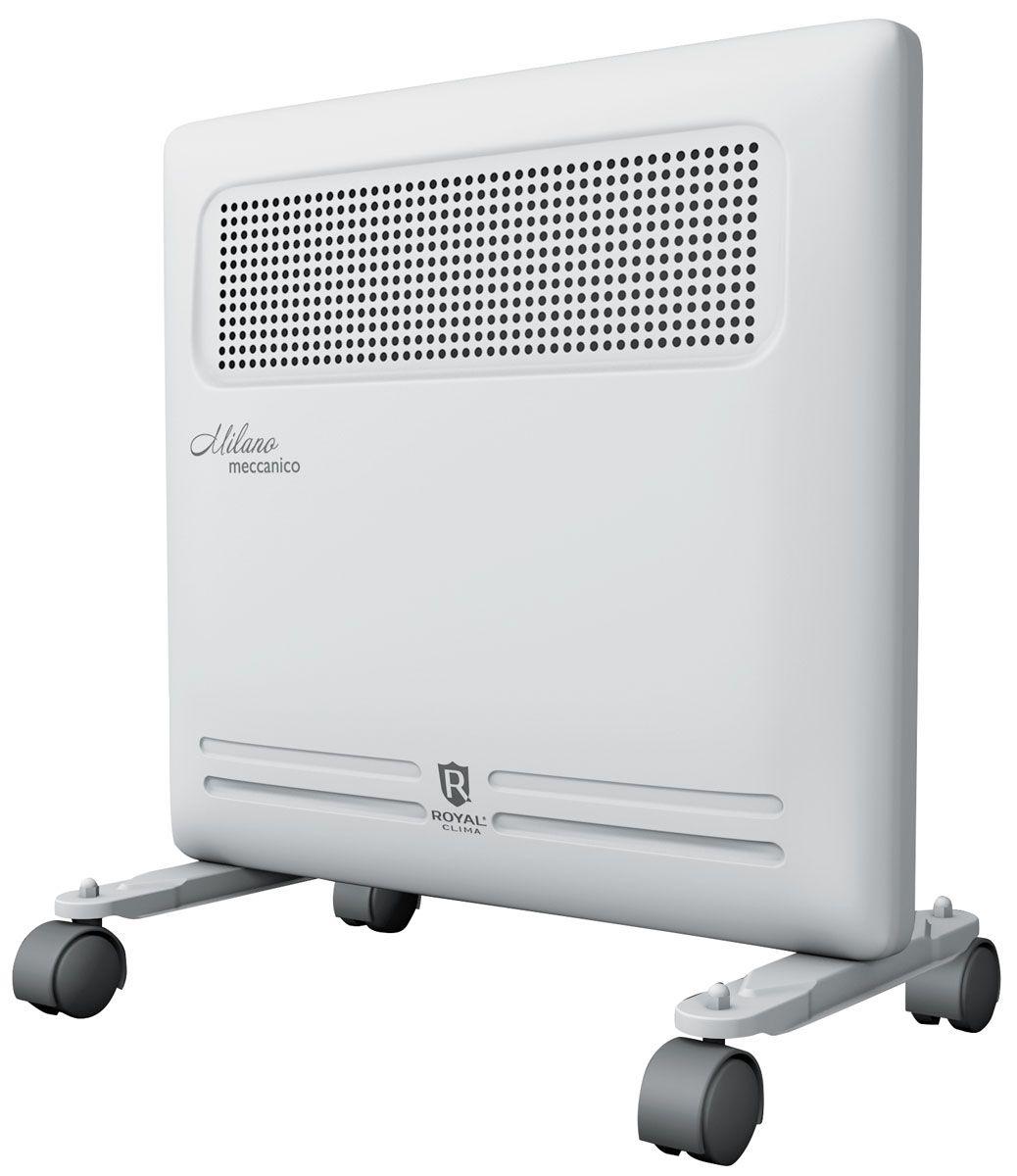 Royal Clima REC-M1000M электрический конвекторREC-M1000MКонвектор Royal Milano Meccanico - это идеальное сочетание высокого качества, производительности и безопасности использования в изысканном итальянском дизайне. Эксклюзивная конструкция воздухораздаточного отверстия увеличенной площади обеспечивает равномерный прогрев всего помещения. Высокая эффективность работы конвектора достигается благодаря литому алюминиевому нагревательному X-элементу X-ROYAL Long Life Heater, который обладает увеличенной площадью теплообмена и сниженной температурой поверхности. Нагревательный элемент нового поколения обеспечивает мгновенный разогрев за 10-20 секунд, высокую эффективность распределения тепла, и при этом не пересушивает воздух и не сжигает кислород. Все необходимые опции и режимы, система безопасной эксплуатации Security Project, легкая установка и эксплуатация делают Royal Milano Meccanico незаменимым для вашего дома.