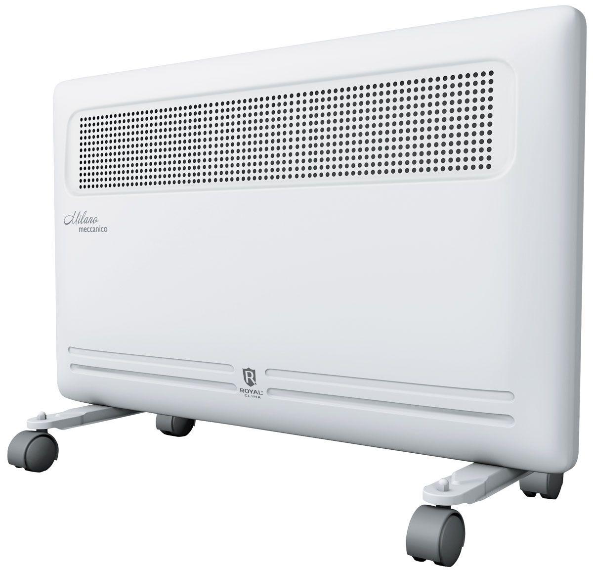 Royal Clima REC-M1500M электрический конвекторREC-M1500MКонвектор Royal Milano Meccanico - это идеальное сочетание высокого качества, производительности и безопасности использования в изысканном итальянском дизайне. Эксклюзивная конструкция воздухораздаточного отверстия увеличенной площади обеспечивает равномерный прогрев всего помещения. Высокая эффективность работы конвектора достигается благодаря литому алюминиевому нагревательному X-элементу X-ROYAL Long Life Heater, который обладает увеличенной площадью теплообмена и сниженной температурой поверхности. Нагревательный элемент нового поколения обеспечивает мгновенный разогрев за 10-20 секунд, высокую эффективность распределения тепла, и при этом не пересушивает воздух и не сжигает кислород. Все необходимые опции и режимы, система безопасной эксплуатации Security Project, легкая установка и эксплуатация делают Royal Milano Meccanico незаменимым для вашего дома.