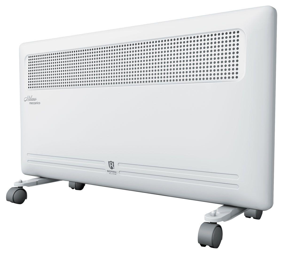 Royal Clima REC-M2000M электрический конвекторREC-M2000MНовинка сезона конвекторы MILANO meccanico - это идеальное сочетание высокого качества, производительности и безопасности использования в изысканном итальянском дизайне.Эксклюзивная конструкция воздухораздаточного отверстия увеличенной площади обеспечивает равномерный прогрев всего помещения. Высокая эффективность работы конвектора достигается благодаря литому алюминиевому нагревательному X-элементу X-ROYAL Long Life Heater, который обладает увеличенной площадью теплообмена и сниженной температурой поверхности. Нагревательный элемент нового поколения обеспечивает мгновенный разогрев за 10-20 секунд, высокую эффективность распределения тепла, и при этом не пересушивает воздух и не сжигает кислород. Все необходимые опции и режимы, система безопасной эксплуатации Security Project, легкая установка и эксплуатация делают серию Milano Meccanico незаменимой для Вашего дома.