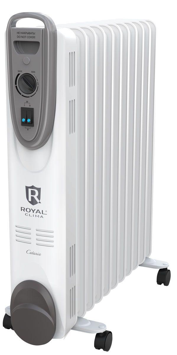 Royal Clima ROR-С11-2200М масляный радиаторROR-С11-2200МНовая серия классических масляных радиаторов серия CATANIA - это безопасный и максимально комфортный обогрев любого помещения. Высочайшие стандарты безопасности радиаторов Royal Clima реализованы системой Security Project, которая включает в себя защиту от перегрева благодаря автоматическому отключению прибора при достижении максимальной температуры нагрева. Для работы радиатора используется только экологически чистое масло после многоступенчатой очистки по стандарту HD 300, что позволяет прибору работать без шума и запаха. Для удобства эксплуатации прибор оснащен высоконадежным механическим термостатом, который автоматически поддерживает желаемую температуру, а также 3-мя режимами нагрева (мягкий, средний и интенсивный) в зависимости от предпочтения пользователя, удобной ручкой для перемещения, опорными ножками с роликами и увеличенной длиной шнура питания 1.5 метра.