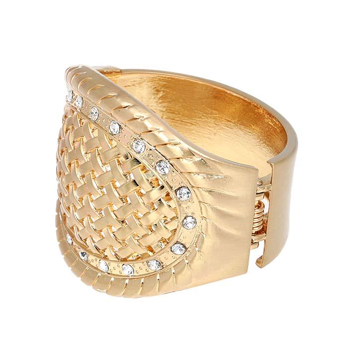 Браслет Патриция от Arrina. Прозрачные кристаллы, бижутерный сплав золотого тона. ГонконгT-B-9969-BRAC-GOLDБраслет Патриция от Arrina. Прозрачные кристаллы, бижутерный сплав золотого тона. Гонконг. Размер: диаметр 6 см. Сохранность отличная, изделие новое, не было в использовании.