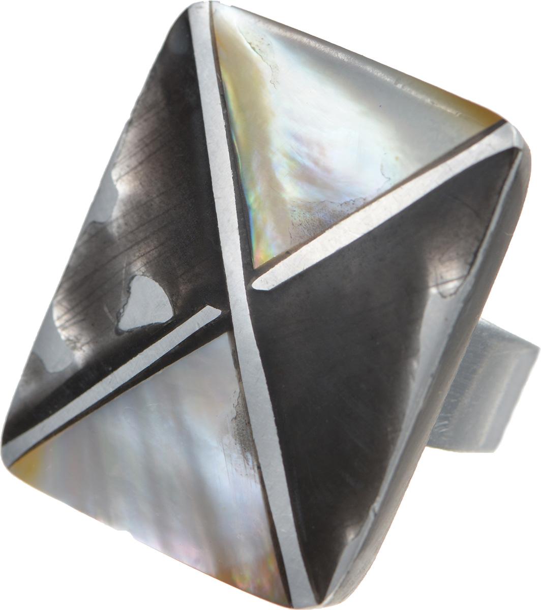 Кольцо Selena Mindora, цвет: серый, черный. 6002041060020410Оригинальное кольцо Selena Mindora изготовлено из металла с родиевым покрытием. Изделие оформлено декоративным элементом прямоугольной формы, выполненным из пальмового дерева и ракушки. Кольцо регулируется по размеру. Это необычное украшение внесет изюминку в ваш модный образ, а также позволит выделиться среди окружающих.