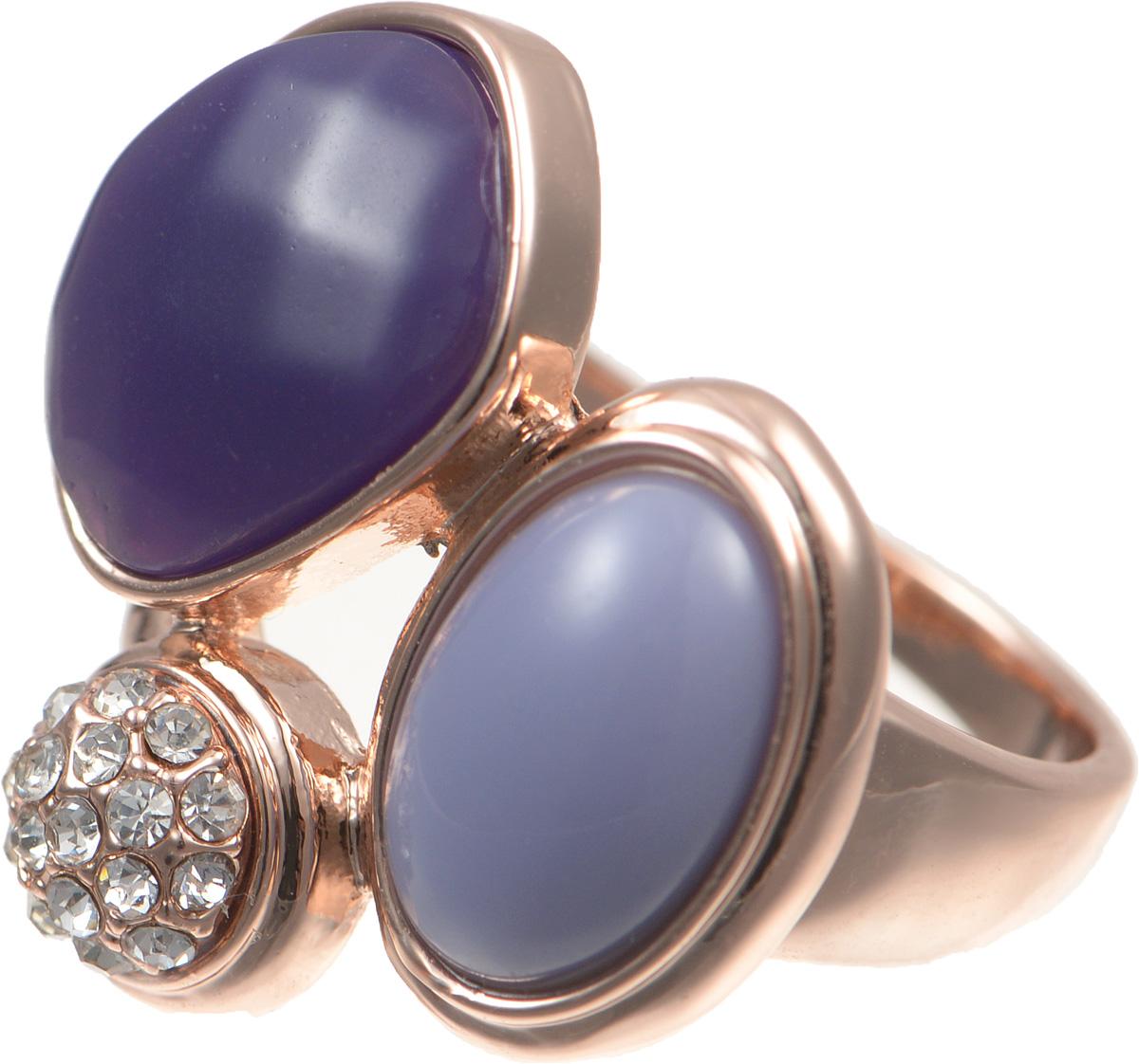 Кольцо Selena Medea, цвет: золотой, фиолетовый. 6002482860024828Стильное кольцо Selena Medea выполнено из ювелирного сплава гальваническим покрытием золотом и оформлено кристаллами Preciosa и вставками из ювелирной смолы. Элегантное кольцо Selena превосходно дополнит ваш образ и подчеркнет отменное чувство стиля своей обладательницы.