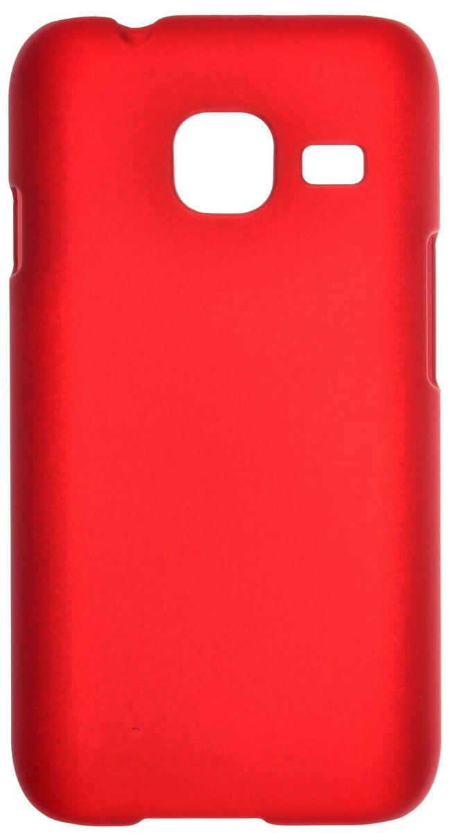 Skinbox Shield Case 4People чехол для Samsung Galaxy J1 mini (2016), Red2000000090658Чехол Skinbox Shield Case 4People для Samsung Galaxy J1 mini (2016) надежно защищает ваш смартфон от внешних воздействий, грязи, пыли, брызг. Он также поможет при ударах и падениях, не позволив образоваться на корпусе царапинам и потертостям. Чехол обеспечивает свободный доступ ко всем функциональным кнопкам смартфона и камере.