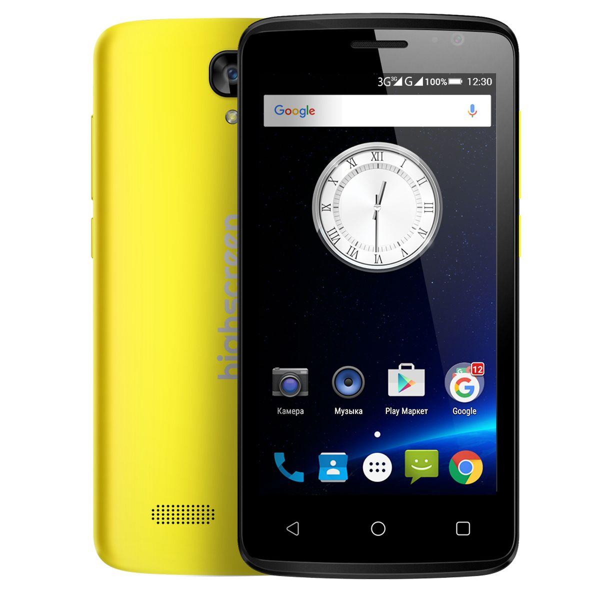 Highscreen Easy F Pro, Yellow23434Смартфон Highscreen Easy F Pro - это версия обычного Easy F новой линейки Easy. От своего предшественника Easy Pro отличается рядом улучшенных параметров: 5 мегапиксельной фотокамерой с автофокусом, размером оперативной и постоянной памяти объемом 1 ГБ и 8 ГБ соответственно. Экран Easy F Pro оснащён IPS матрицей. Телефон работает под управлением операционной системы Андроид. Чистая версия Android 5.1 не имеет лишних предустановленных приложений, предоставляя пользователю полную свободу выбора. Диагональ экрана Easy F Pro составляет 4,5 дюйма, предоставляя идеальную эргономику и комфорт в использовании телефона. Корпус мобильного телефона матовый и приятный на ощупь. Процессор мобильного телефона четыръёхядерный сбалансированный MediaTek MT6780. Стабильное интернет- соединение обеспечит поддержка 3G сетей, Wi-Fi. А, сохранить всю нужную информацию возможно на карту памяти для которой предусмотрен слот. Highscreen Easy F Pro легко...