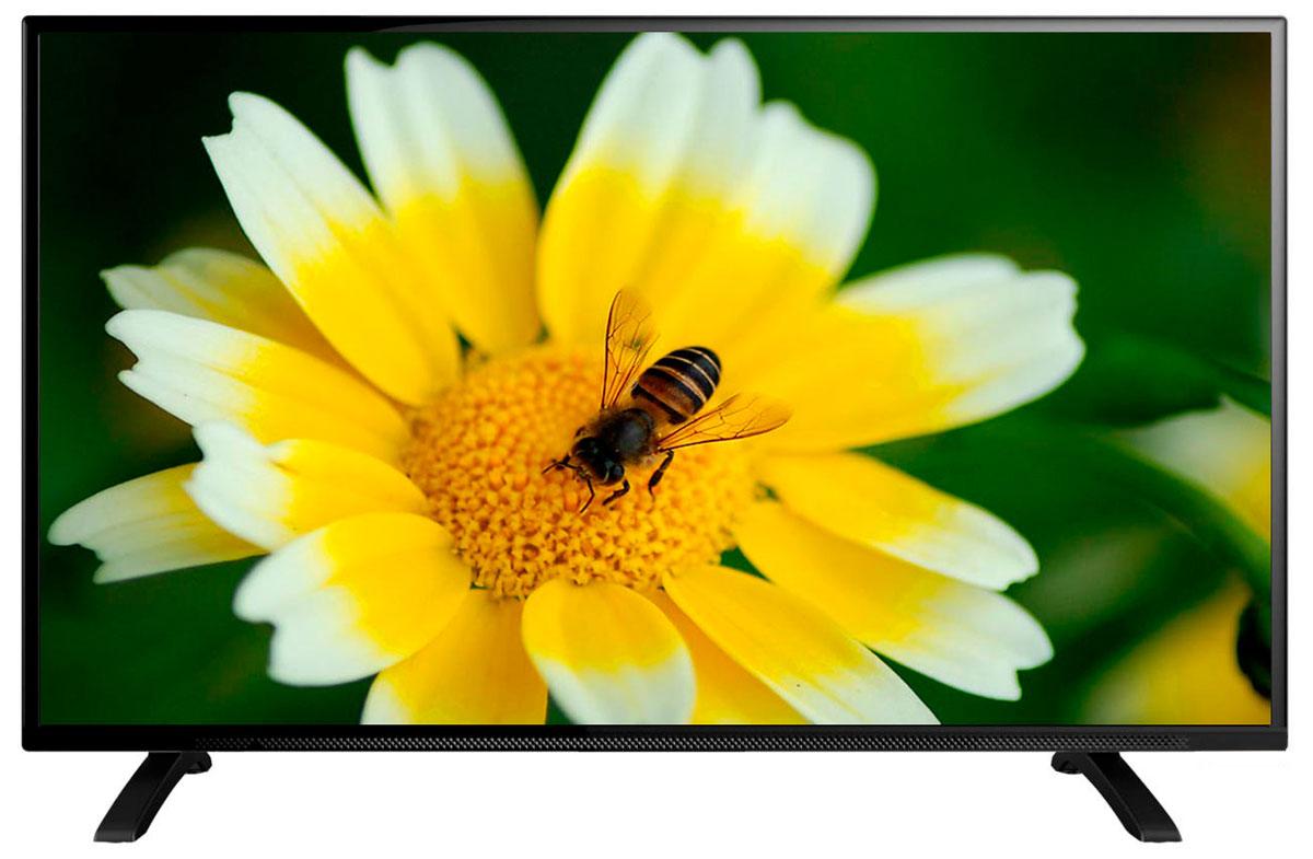 Erisson 43 LES 76 T2 телевизор43LES76T2Телевизор Erisson 43LES76T2 с насыщенной цветопередачей изображения на экране с разрешением Full HD и широкими углами обзора. Источником сигнала для качественной реалистичной картинки служат не только цифровые эфирные и кабельные каналы, но и любые записи с внешних носителей, благодаря универсальному встроенному USB медиаплееру. Формат экрана: 16:9 Контрастность: 1200:1 Яркость: 200 кд/м2 Угол обзора: 176°/176° Время отклика : 9 мс