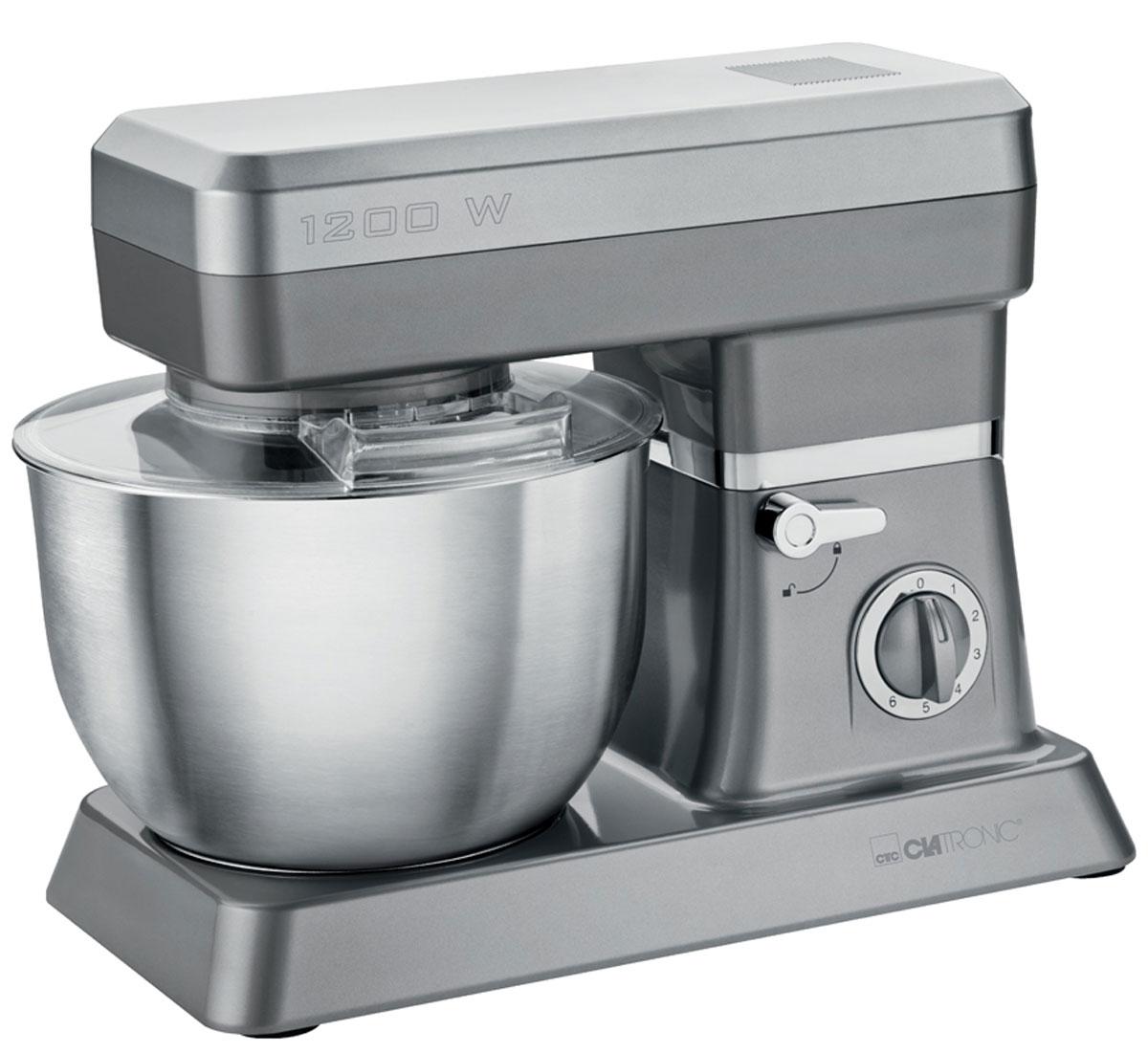 Clatronic KM 3630, Gray кухонный комбайнKM 3630 titanСтационарный миксер Clatronic KM 3630 станет прекрасным помощником для любой хозяйки С ним вы сможете готовить невероятно вкусные и аппетитные блюда, при этом сократив время их приготовление. Основным назначением прибора является изготовление различных видов теста и кремов. Миксер качественно и быстро перемешивает различные ингредиенты, что дает возможность избежать комочков. Clatronic KM 3630 снабжен чашей из нержавеющей стали и механической системой управления. 6 скоростей замешивания + импульсный режим обеспечат наилучший результат. Поворотный рукав на 35° Чаша из нержавеющей стали Быстрозажимной патрон Легко разбирается для мытья и чистки