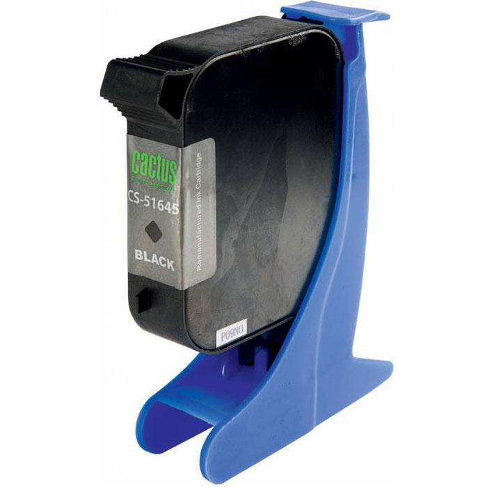 Cactus CS-51645 №45, Black картридж струйный для HP DJ 710c/720c/722c/815c/820cXi/850c/870cXi/880cCS-51645Картридж Cactus CS-51645 №45 для струйных принтеров HP DJ 710c/720c/722c/815c/820cXi/850c/870cXi/880c. Расходные материалы Cactus для печати максимизируют характеристики принтера. Обеспечивают повышенную четкость изображения и плавность переходов оттенков и полутонов, позволяют отображать мельчайшие детали изображения. Обеспечивают надежное качество печати.