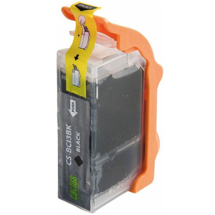 Cactus CS-BCI3BK, Black картридж струйный для Canon BJC-3000/6000/6100/6200/S400/S450/i560/i860/i865/C100/MP390/MPC400/700/730/750/760/780/iP3000/i6500/iP4000/iP5000