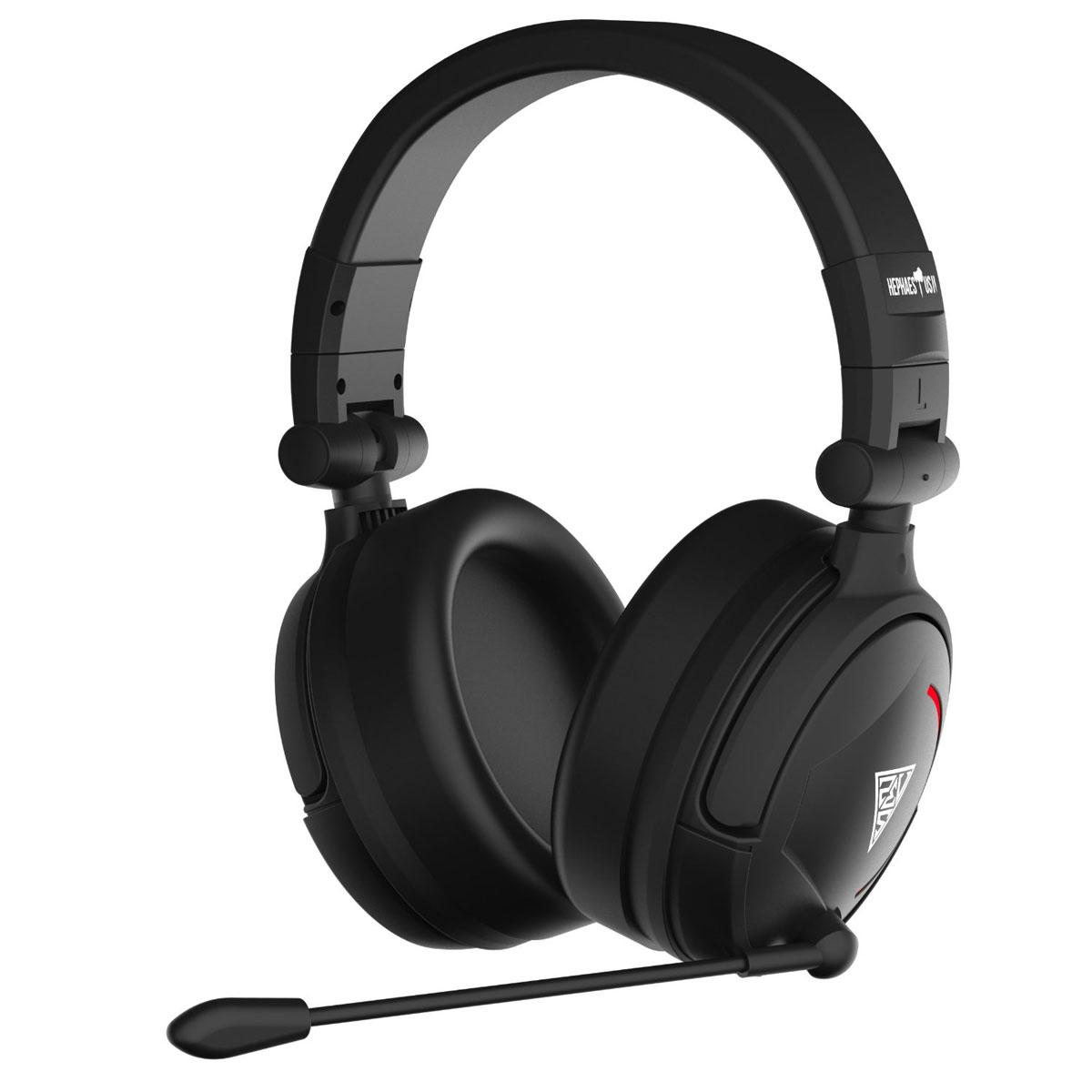 Gamdias Hephaestus V2 7.1 игровые наушникиGHS3510USB-гарнитура Gamdias Hephaestus V2 с объемным звучанием 7.1, вибрацией и красной дышащей подсветкой. Виртуальный объемный звук и драйверы с неодимовыми магнитами обеспечивают непревзойденное качество звука с четким звуковым позиционированием. Микрофон может быть зафиксирован в любой удобной позиции. Оснащен технологией шумоподавления, препятствующей попаданию посторонних звуков в голосовой канал. Удобное управление громкостью и возможность включения/отключения микрофона во время игры. 50-миллиметровые динамики обеспечивают непревзойденное качество звука с идеальным балансом высоких и низких частот. Низкие частоты преобразуются в пульсацию, равномерно распределяемую по амбушюрам, чтобы дать возможность почувствовать звук.
