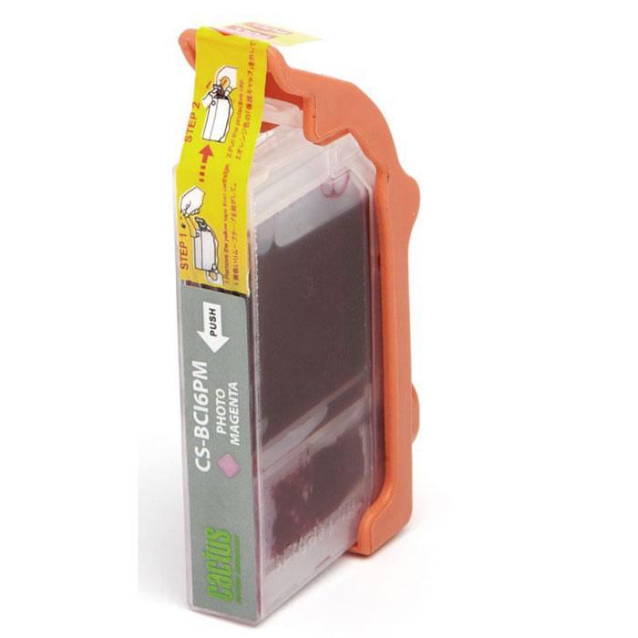 Cactus CS-BCI6PM, Light Magenta картридж струйный для Canon S800/S820/S9000/i550/i860/i905D/i950S/i9100/JX500/MP750/iP600D/BJC-8200 Photo