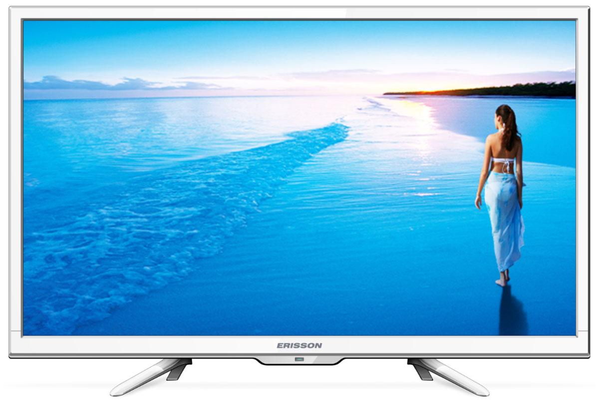 Erisson 28 LES 78 T2 W телевизор28LES78T2WErisson 28LES78T2W - это многофункциональный телевизор, обладающий отличным качеством изображения. Модель с диагональю экрана 28 дюймов можно разместить на кухне или в небольшом помещении. Подсветка Edge LED обеспечивает четкость и яркость изображения, а экран обладает разрешением 1366x768 пикселей, яркостью 250 кд/м2, динамической контрастностью 3000:1 и широким углом обзора (178°). Телевизор Erisson 28LES78T2W имеет функцию телетекста, таймер сна и защиту от детей. Мощность звучания аудиосистемы составляет 14 Вт, также поддерживаются телевизионные стандарты DVB-T2/C/S. Телевизор оборудован USB-портом и HDMI-входами.