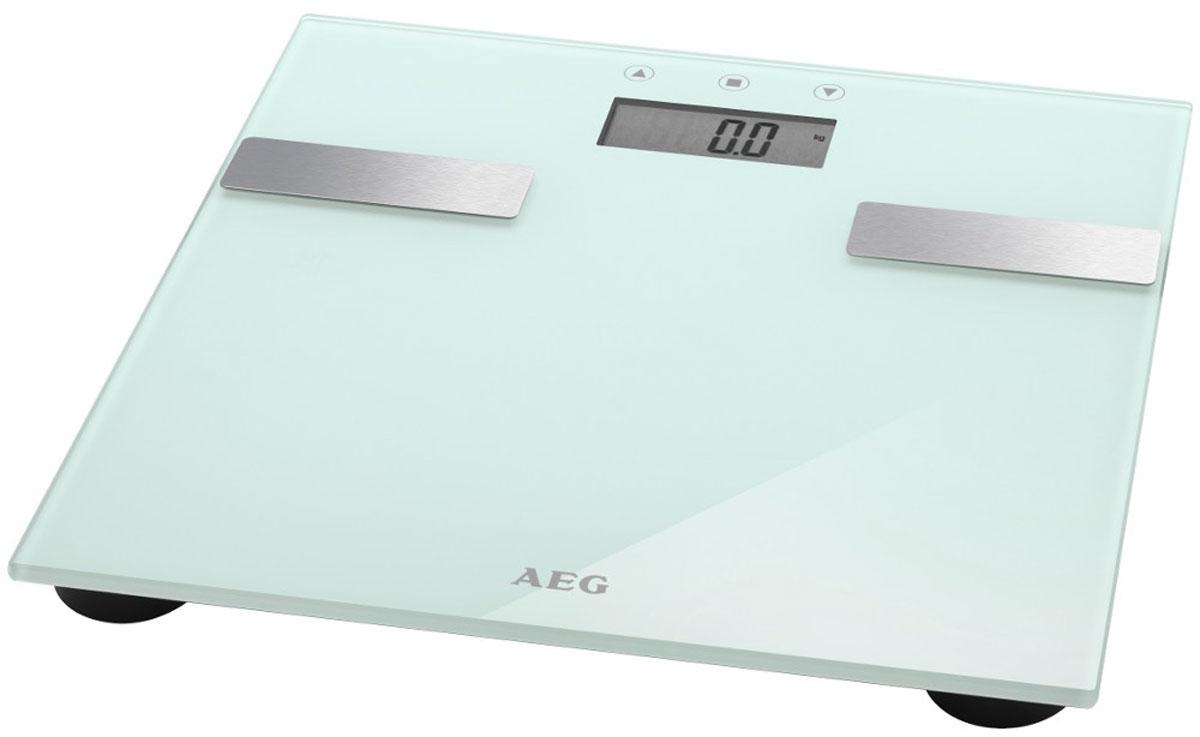 AEG PW 5644 FA, White напольные весыPW 5644 FA weissЭлектронные весы AEG PW 5644 FA со стеклянной подошвой идеально подойдут для анализа параметров тела - вес, жир, вода, мышечная масса, кости, расход калорий за день, индекс массы тела. Многофункциональный LCD-дисплей Система Степ-он Размер поверхности 30 х 30 см Нескользящие ножки