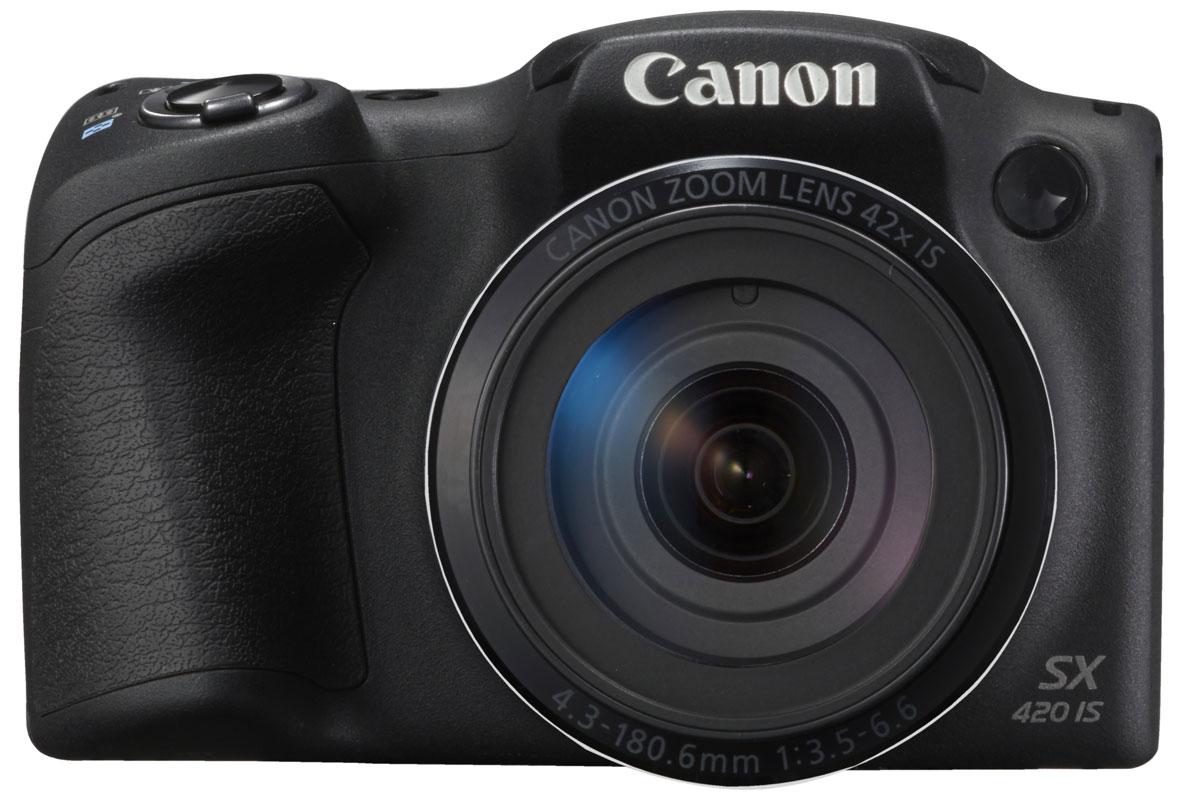 Canon PowerShot SX420 IS, Black цифровая фотокамера1068C002С легкостью запечатлейте все детали самых важных моментов в потрясающих фотографиях и видеороликах формата HD с помощью миниатюрной семейной камеры Canon PowerShot SX420 IS, оснащенной большим зумом 42x, режимом Smart Auto, поддержкой Wi-Fi и интересными творческими режимами в компактном корпусе. Запечатлейте детали отдаленных объектов благодаря большому оптическому зуму 42x или увеличьте охват кадра, используя сверхширокий угол 24 мм с помощью небольшой полупрофессиональной камеры с удобной эргономичной ручкой-держателем, которую можно взять с собой куда угодно. Эко-режим сокращает потребление энергии аккумулятора и позволяет вести съемку дольше. Снимать замечательные видеоролики просто и весело. Одно нажатие кнопки — и вы уже снимаете видео HD (720p) в формате MP4. Почувствуйте свободу творчества при видеосъемке, используя оптический зум, — результат все равно поразит вас необычайной четкостью и плавностью благодаря динамическому стабилизатору...