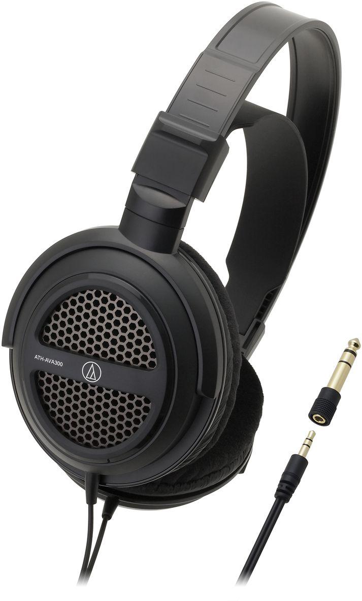 Audio-Technica ATH-AVA300 наушники10102361Audio-Technica ATH-AVA300 – это домашние динамические наушники, предназначенные для качественной передачи звука с музыкального центра, телевизора или компьютера. Открытое акустическое оформление этой модели обеспечивает естественное прозрачное звучание. Отличная эргономика, включая подстраиваемое оголовье, позволяет комфортно слушать наушники в течение длительного времени.