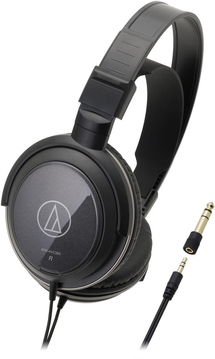 Audio-Technica ATH-AVC300 наушники10102362Audio-Technica ATH-AVC300 – это домашние динамические наушники, предназначенные для качественной передачи звука с музыкального центра, телевизора или компьютера. Закрытое акустическое оформление этой модели и плотное прилегание амбушюров обеспечивают плотные басы, при этом отличная эргономика позволяет комфортно слушать наушники в течение длительного времени.