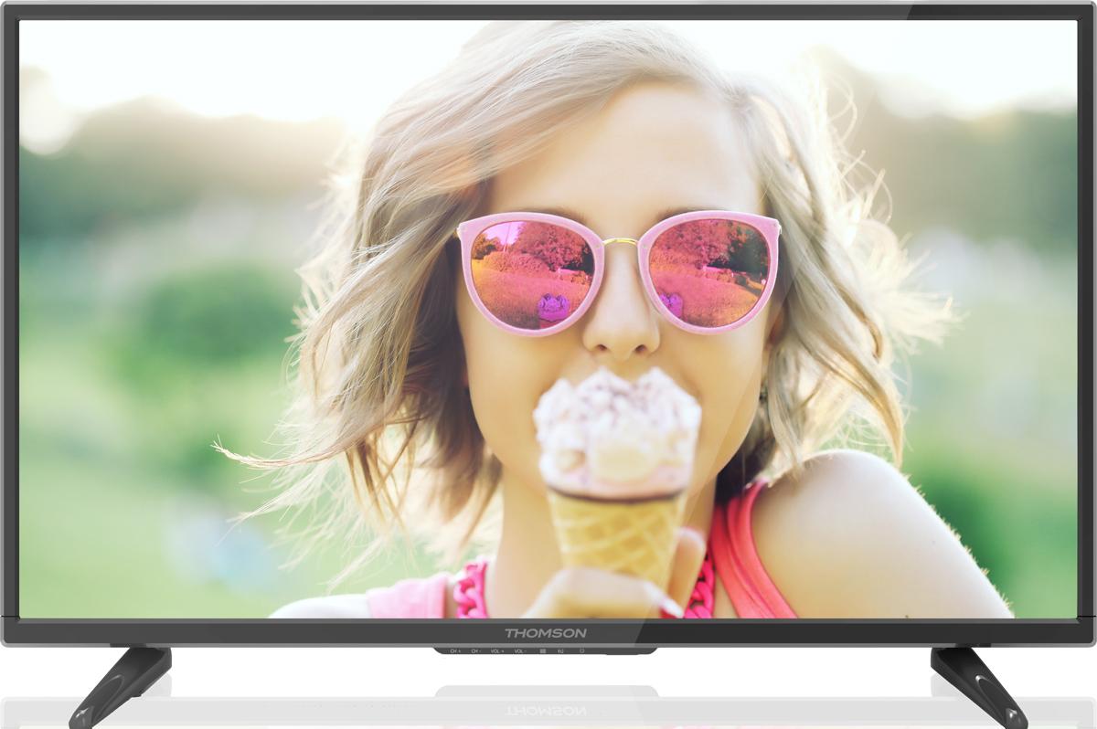 Thomson T32D16DH-01B телевизорT32D16DH-01BТелевизор Thomson T32D16DH-01B позволит насладиться фильмами и современными видеоиграми без лишних финансовых затрат. Телевизор позволит смотреть телепередачи и киноленты на 32-дюймовом экране с поддержкой разрешения 1366 x 768 пикселей и частотой развертки 50 Гц. Таким образом, вы сможете наблюдать за картинкой в HD-разрешении, разместившись в кресле или на диване, а два 5-ваттных динамика позволят обойтись без громоздкой акустической системы. Несмотря на скромный набор функций, телевизор позволяет запускать мультимедийный контент с USB-флэшки, а к разъему HDMI можно подключить игровую консоль, плеер или другие устройства. Вы можете расположить телевизор на тумбе или повесить его на стену, сэкономив место в комнате.