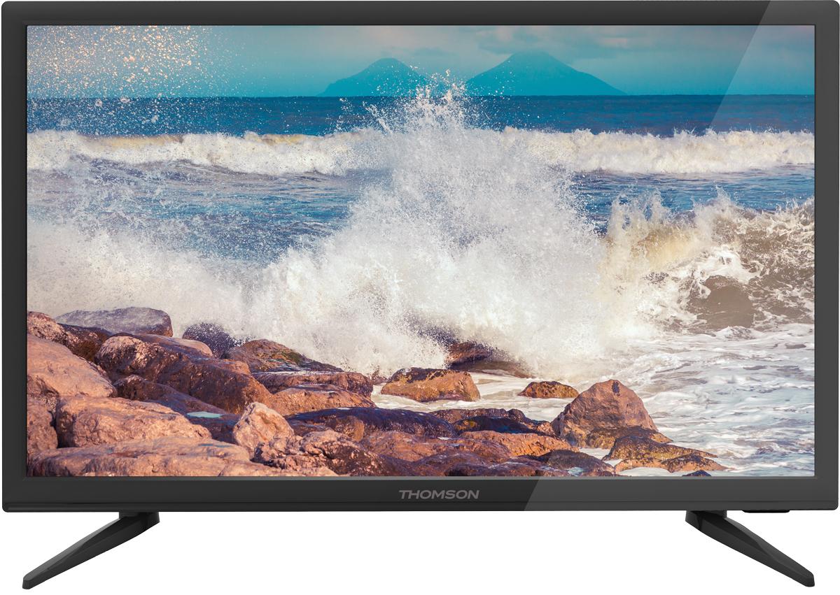 Thomson T22D16DF-01B телевизорT22D16DF-01BТелевизор Thomson T22D16DF-01B позволит вам насладиться просмотром фильмов и запуском современных видеоигр без лишних финансовых затрат. Телевизор позволит вам наблюдать за телепередачами и кинолентами на 22-дюймовом экране с поддержкой разрешения 1920 х 1080 пикселей и частотой развертки 50 Гц. Таким образом, вы сможете наблюдать за картинкой в Full HD-разрешении, разместившись в кресле или в диване, а два 5-ваттных динамика позволят обойтись без громоздкой акустической системы. Несмотря на скромный набор функций, телевизор позволяет запускать мультимедийный контент с USB-флэшки, а к разъему HDMI вы можете с легкостью подключить игровую консоль, плеер или другие устройства. Вы можете расположить девайс на тумбе или повесить его на стену, сэкономив место в комнате.