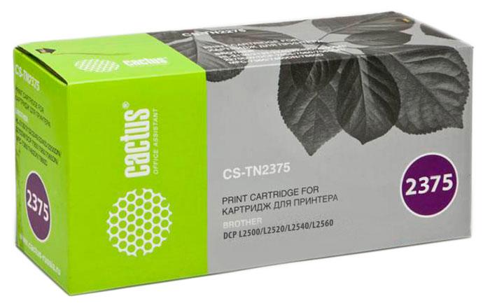 Cactus CS-TN2375, Black тонер-картридж для Brother DCP L2500/L2520/L2540/L2560CS-TN2375Картридж Cactus CS-TN2375 для лазерных принтеров Brother. Расходные материалы Cactus для лазерной печати максимизируют характеристики принтера. Обеспечивают повышенную чёткость чёрного текста и плавность переходов оттенков серого цвета и полутонов, позволяют отображать мельчайшие детали изображения. Обеспечивают надежное качество печати.