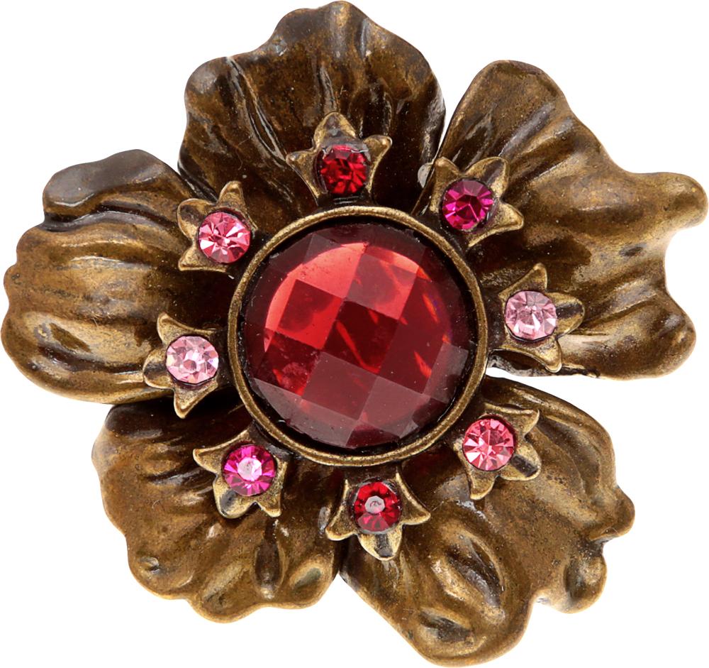 Коктейльное кольцо Кассандра. Металл медного тона, розовые кристаллы, ювелирный пластик. Гонконг, 2000-е годыf5183870Коктейльное кольцо Кассандра. Металл медного тона, розовые кристаллы, ювелирный пластик. Гонконг, 2000-е годы. Кольцо имеет эластичное основание, и подойдет на любой размер пальца. Размер декоративного цветка 4 х 4,5 см. Сохранность очень хорошая.
