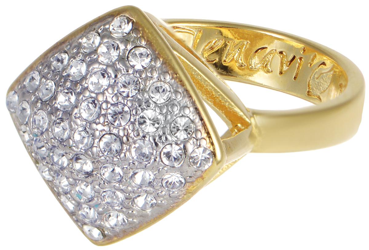 Кольцо Jenavi Мириада. Харди, цвет: золотой. r632q000. Размер 16r632q000Кольцо Jenavi Харди из коллекции Мириада изготовлено из гипоаллергенного ювелирного сплава с позолотой и украшено яркими кристаллами Swarovski. Это кольцо никогда не затеряется среди других ваших украшений, ведь сверкающие кристаллы Swarovski и покрытие из настоящего золота выглядят роскошно и очень дорого. Кроме того, его изысканный дизайн так выгодно подчеркивает достоинства кристаллов, что они не уступают своей красотой драгоценным камням. В новой коллекции Мириада - бесчисленное количество кристаллов Swarovski разных размеров, цветов и оттенков. Они вдохновляют - на романтическое настроение, на смелые поступки, на позитивные эмоции. Они придают новое толкование всем известной истины - красоты никогда не бывает много! Мириада от Jenavi - удовольствие, которое может длиться вечно.