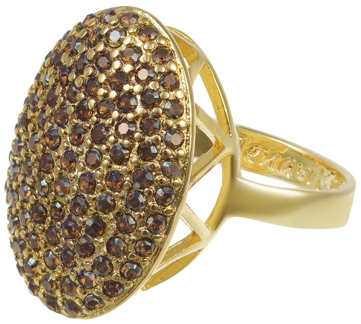 Кольцо Jenavi Мириада. Гросс, цвет: золотой. r633p033. Размер 18r633p033Кольцо Jenavi Гросс из коллекции Мириада изготовлено из гипоаллергенного ювелирного сплава с позолотой и украшено яркими кристаллами Swarovski. Это кольцо никогда не затеряется среди других ваших украшений, ведь сверкающие кристаллы Swarovski и покрытие из настоящего золота выглядят роскошно и очень дорого. Кроме того, его изысканный дизайн так выгодно подчеркивает достоинства кристаллов, что они не уступают своей красотой драгоценным камням. В новой коллекции Мириада - бесчисленное количество кристаллов Swarovski разных размеров, цветов и оттенков. Они вдохновляют - на романтическое настроение, на смелые поступки, на позитивные эмоции. Они придают новое толкование всем известной истины - красоты никогда не бывает много! Мириада от Jenavi - удовольствие, которое может длиться вечно.