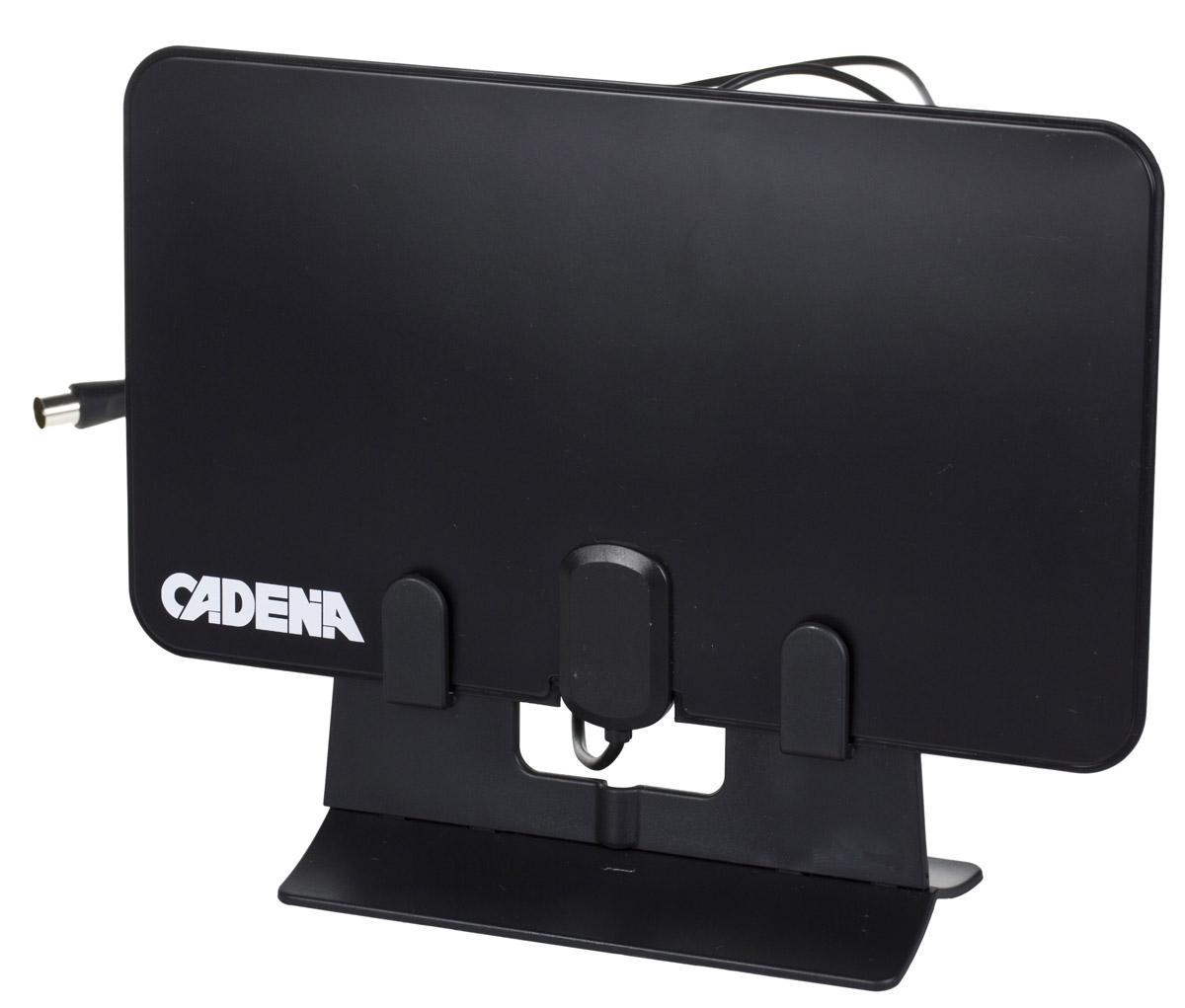 Cadena DVB-T825BF телевизионная антеннаDVB-T825BFCadena DVB-T825BF - компактная, мощная, и удобная телевизионная антенна. На ней можно даже разместить рисунок или дизайн по своему усмотрению, хорошо впишется в любой интерьер или по желанию скроется за картиной или занавеской. Телевизионная комнатная антенна с встроенным усилителем и кабелем предназначена для приема сигналов цифрового эфирного телевидения DVB-T2 и аналогового телевизионного сигнала. Модель компактная, ее легко можно разместить на стене, окне, подоконнике, или в любом удобном месте. Наличие встроенного малошумящего усилителя позволяет использовать ее в зонах с различным уровнем телевизионного сигнала. Питание антенного усилителя напряжением 5 В осуществляется от приемника DVB-T2.