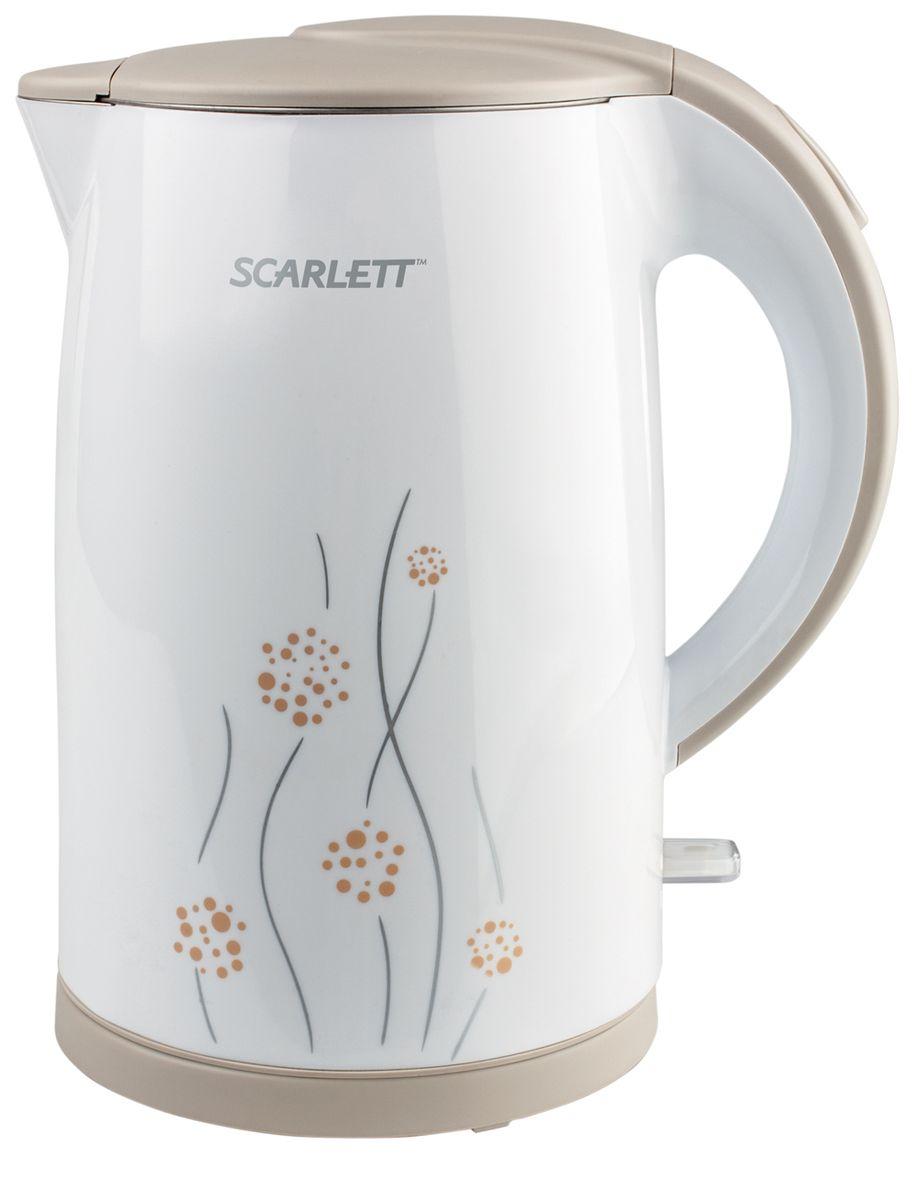 Scarlett SC-EK21S08 электрический чайникSC-EK21S08Беспроводной чайник Scarlett SC-EK21S08 в корпусе из нержавеющей стали имеет объем 1,7 литра. Благодаря мощности 2150 Вт SCARLETT SC-EK21S08 способен за короткое время вскипятить воду. Двойные стенки чайника Cool touch создают эффект термоса, поэтому сильно не шумит при работе, вода дольше сохраняет температуру, а внешние стенки не нагреваются. Нагревательный элемент скрыт пластиной из нержавеющей стали, что облегчает чистку. Чайник оснащен автоматическим отключением при закипании, а также при недостаточном количестве воды. При включенном состоянии внутри чайника загорается подсветка. Крышка открывается с помощью кнопки. Для удобного хранения шнура предусмотрен специальный отсек.