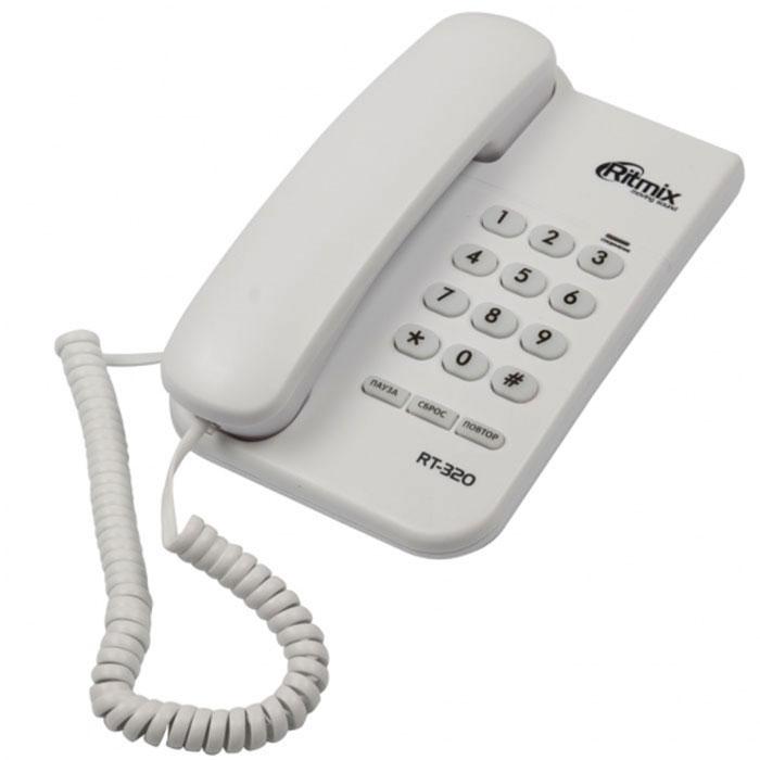 Ritmix RT-320, White телефон15118348Ritmix RT-320 – это компактный и надежный базовый телефонный аппарат, который удобно использовать как дома, так и в офисе. Он поддерживает все основные функции, в том числе повтор набранного номера и световую индикацию соединения. Компактный и удобный Чёткие цифры на кнопках Импульсный и тональный набор номера Световой индикатор соединения Пауза, сброс, повтор номера