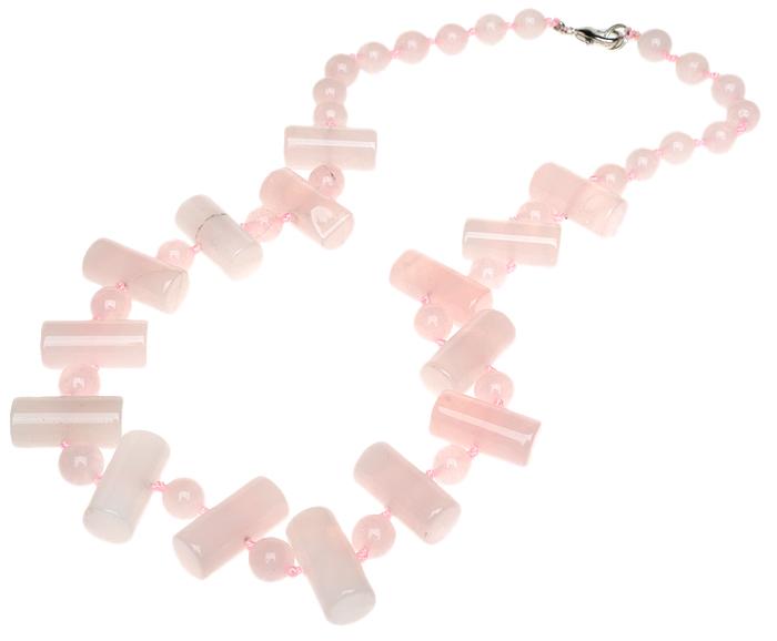 Бусы Иоланта. Натуральный розовый кварц. Индия066668-702-1143Бусы Иоланта. Натуральный розовый кварц. Индия. Размер: полная длина 47 см.
