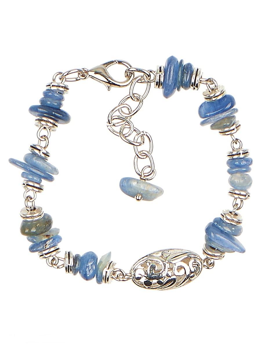 Браслет Polina Selezneva, цвет: голубой. 002-2987002-2987Браслет выполнен из кианита и сплава.