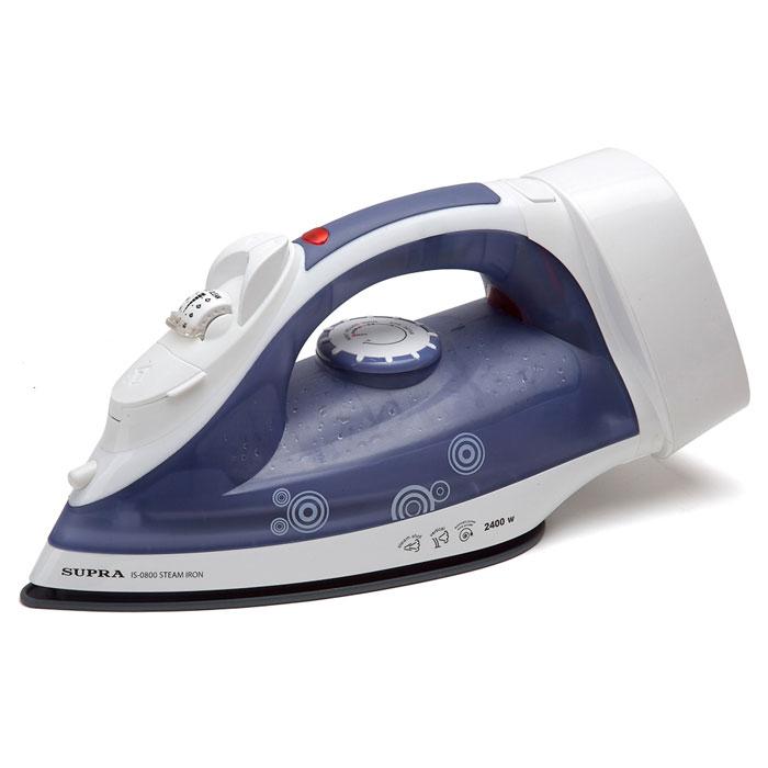 Supra IS-0800, Blue White утюгIS-0800 blue/whiteМодель Supra IS-0800 оснащена всеми новейшими функциональными возможностями. Это и система защита от накипи и самоочистки, и противокапельная система, и удобный резервуар для залива воды, и эргономичная ручка, и желобок для пуговиц, и свободное вращение шнура на 360 градусов. Устройство имеет вместительный резервуар и обладает функцией как вертикального отпаривания, так и сухой глажки. Функция автоотключения в 2 положениях Прорезиненная вставка на ручке Система автоматической смотки шнура Cord Reel