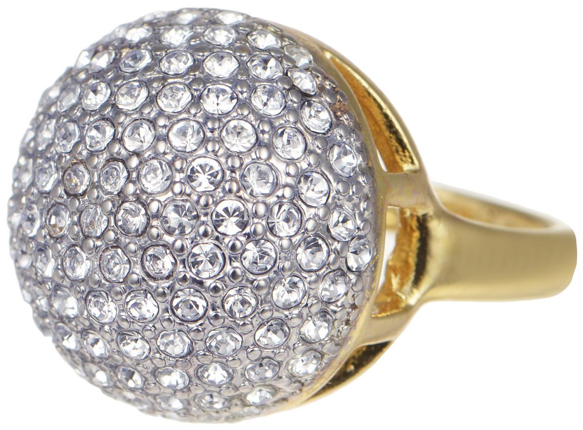 Кольцо Jenavi Мириада, цвет: золотой, серебряный. r634q000. Размер 17r634q000Элегантное кольцо от Jenavi Мириада изготовлено из качественного металла с покрытием из позолоты с родированием. Декоративная часть выполнена в округлой форме и украшена стразами Swarovski. Изделие дополнено тисненой надписью с названием бренда на внутренней стороне. Такое стильное кольцо идеально дополнит ваш образ и подчеркнет вашу индивидуальность.