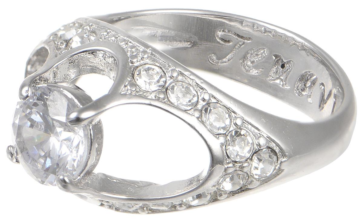 Кольцо Jenavi Teona. Чифара, цвет: серебряный. f422f0a0. Размер 17f422f0a0Элегантное кольцо Jenavi Teona. Чифара изготовлено из качественного металла с покрытием из серебра с родированием. Изделие декорировано вставками из фианита и стразов. Внутренняя сторона кольца дополнена тисненой надписью с названием бренда. Такое стильное кольцо идеально дополнит ваш образ и подчеркнет вашу индивидуальность.
