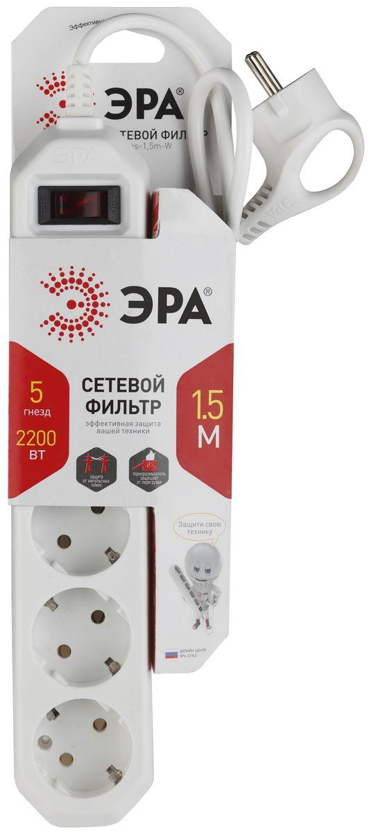 ЭРА USF-5es-1.5m-W, White сетевой фильтр
