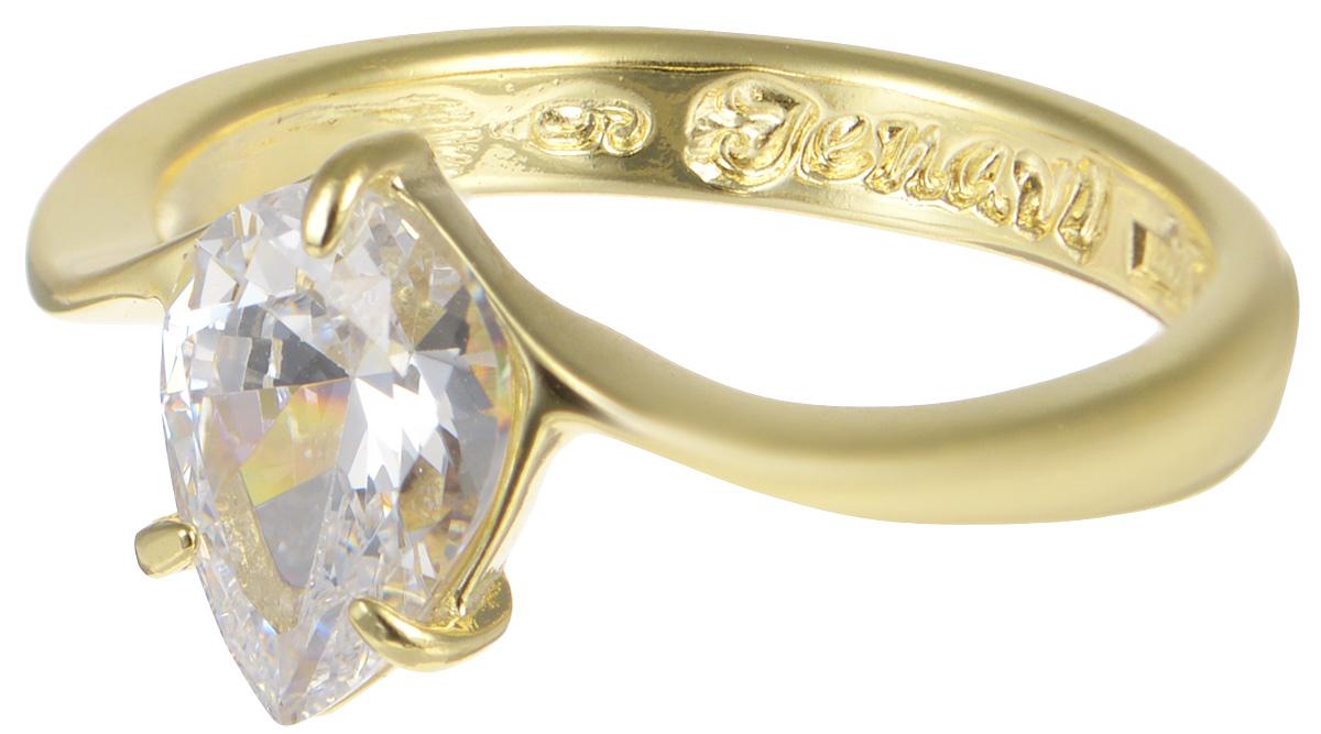 Кольцо Jenavi, Циркония. Чиос, цвет: золотой, белый. r665p0a0. Размер 20r665p0a0Элегантное кольцо от Jenavi Циркония. Чиос изготовлено из качественного металла с золотым покрытием. Декоративный элемент кольца выполнен в виде переливающегося прозрачного кристалла, изготовленного из фианита. Внутренняя сторона изделия оформлена тисненой надписью с названием бренда. Такое стильное кольцо идеально дополнит ваш образ и подчеркнет вашу женственность.