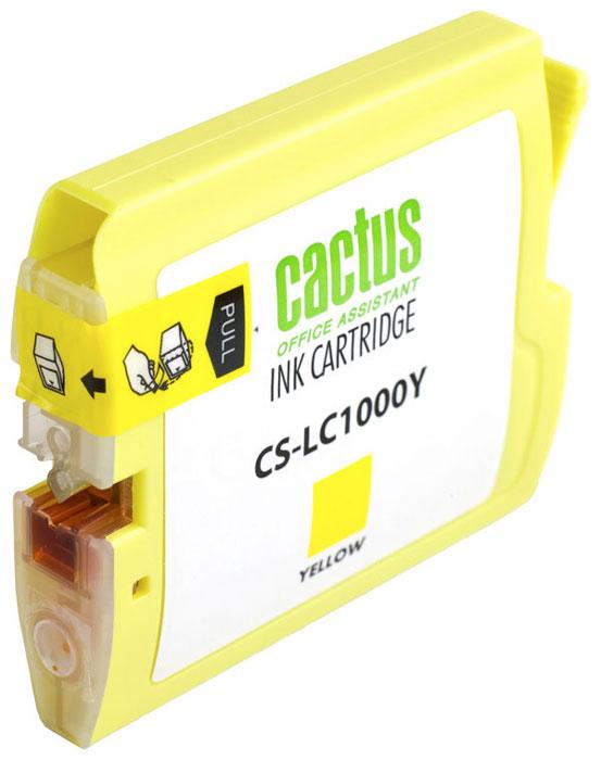 Cactus CS-LC1000Y, Yellow картридж струйный для Brother DCP 130C/330С/MFC-240C/5460CNCS-LC1000YКартридж Cactus CS-LC1000Y для струйных принтеров Brother DCP 130C/330С/MFC-240C/5460CN. Расходные материалы Cactus для струйной печати максимизируют характеристики принтера. Обеспечивают повышенную четкость цветов и плавность переходов оттенков и полутонов, позволяют отображать мельчайшие детали изображения. Обеспечивают надежное качество печати.