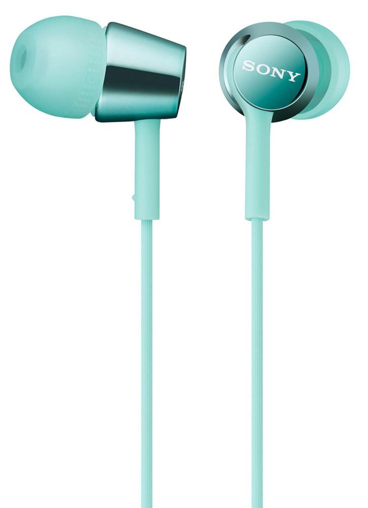 Sony MDR-EX150, Mint Blue наушникиMDREX150L.E_мятныйНаушники-вкладыши Sony MDR-EX150 предлагаются в десяти ярких цветовых решениях, что позволит вам подобрать пару наушников под свой индивидуальный стиль. Динамики с неодимовыми магнитами и с диаметром диффузора 9 мм обеспечивают яркое энергичное звучание музыки, а диапазон воспроизводимых частот от 5 Гц до 24 кГц идеально подойдет для популярных стилей музыки.