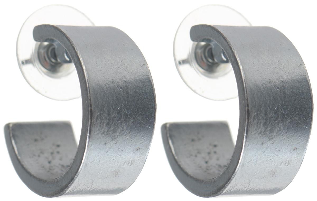 Серьги Jenavi Mona. Цета, цвет: серый. k483o890k483o890Стильные серьги от Jenavi Mona. Цета изготовлены из качественного металла с покрытием из черного оксида. Серьги выполнены в форме колец и дополнены тисненым фирменным значком на внутренней стороне. Изделие застегивается на удобную и надежную застежку-гвоздик. Такие серьги идеально дополнят любой ваш образ и подчеркнут вашу индивидуальность.