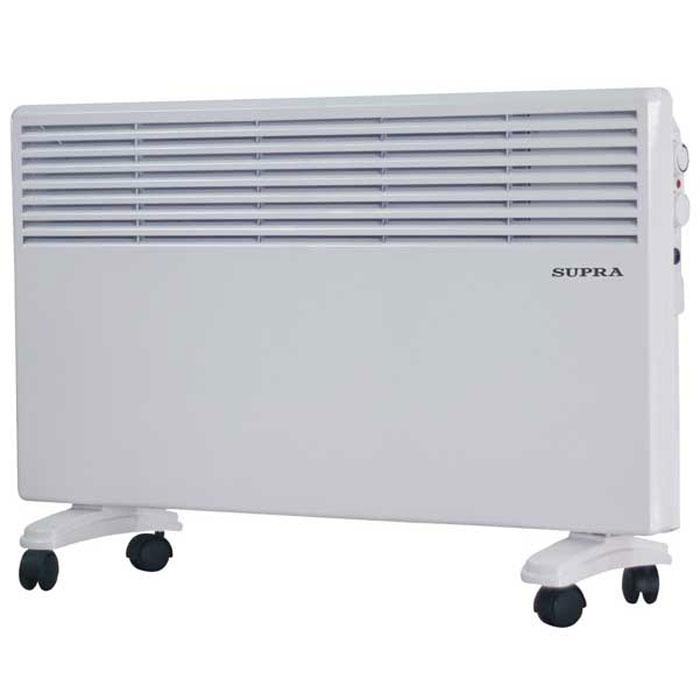 Supra ECS-405, White обогревательECS-405 whiteSupra ECS-405 - это электрический обогреватель конвективного типа. Холодный воздух, проходя через прибор и его нагревательный элемент, нагревается и выходит сквозь решетки-жалюзи, незамедлительно начиная обогревать помещение. Вся конструкция Supra ECS-405 направлена на равномерное распределение тепла для обогрева с максимальным комфортом. Бесшумная работа. В комплекте монтажная планка для настенного крепления и колёсики для напольного размещения и удобного перемещения.