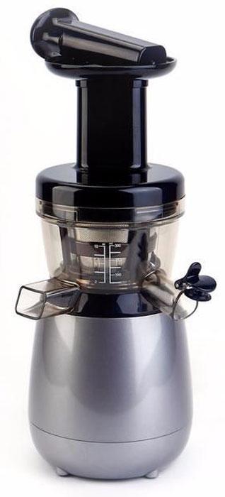 Hurom НP-DBE12, Grey соковыжималкаНP-DBE12Простая, компактная модель соковыжималки Hurom НP-DBE12 с глянцевым корпусом. Удобный клапан для легкой очистки и возможности смешивания соков. Возможно смешивать ингредиенты. Легко мыть. Датчик безопасности для HP модели. Компактная модель, удобная в использовании. Безопасный! Скорость вращения шнека 43 об./мин. ! Время вращения шнека 1,5 сек. ! Сохраняет витамины и питательные вещества благодаря медленному вращению шнека. Безопасный, узкий загрузочный лоток. Дети не смогут в него поместить руку. 100% натуральный сок. Hurom сохраняет все питательные вещества и витамины овощей и фруктов. ! Потеря питательных и полезных веществ сведена к минимуму. ! Медленная технология отжима сока. ! Барабан из Tritan материала! Tritan используется для производства детских бутылочек. ! Экономное потребление электроэнергии, 150 Вт! Большое преимущество и низкое энергопотребление соковыжималки Hurom - 150 Вт. Это почти в 10 раз меньше потребляемой...