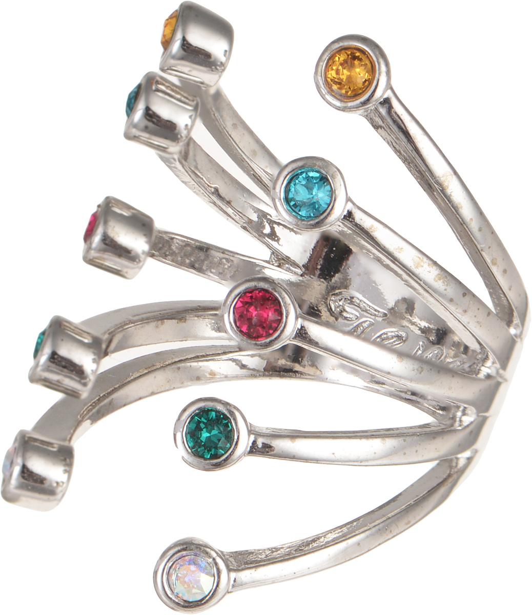 Jenavi, Коллекция Триада, Пурина (Кольцо), цвет - серебряный, мультиколор, размер - 20f694f070Коллекция Триада, Пурина (Кольцо) гипоаллергенный ювелирный сплав,Серебрение c род. , вставка Кристаллы Swarovski , цвет - серебряный, мультиколор, размер - 20