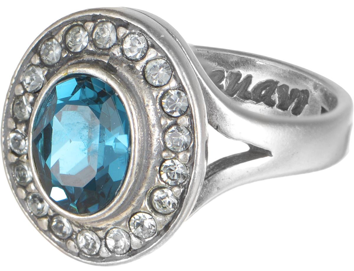 Кольцо Jenavi Коллекция Murano Навогеро, цвет: серебряный, голубой. r4683043. Размер 19r4683043Коллекция Murano, Навогеро (Кольцо) гипоаллергенный ювелирный сплав,Черненое серебро, вставка Кристаллы Swarovski , цвет - серебро, голубой, размер - 19 избегать взаимодействия с водой и химическими средствами