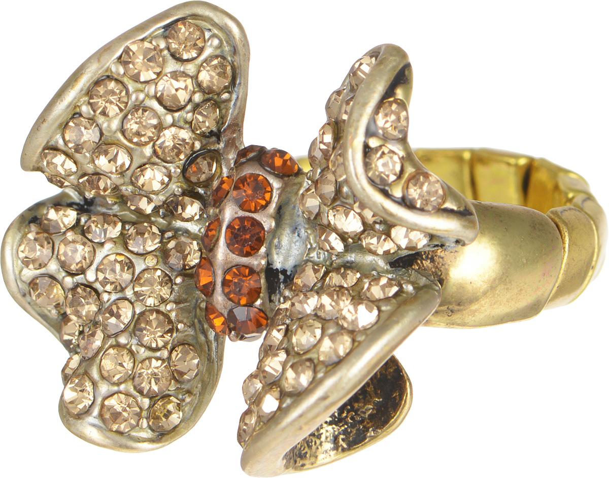 Кольцо Taya, цвет: золотистый. T-B-6820T-B-6820Стильное кольцо Taya выполнено в виде кокетливого бантика из металлического сплава, который дополнен стразами. Эластичная основа делает размер кольца универсальным. Оригинальное кольцо Taya превосходно дополнит ваш образ и подчеркнет отменное чувство стиля своей обладательницы.