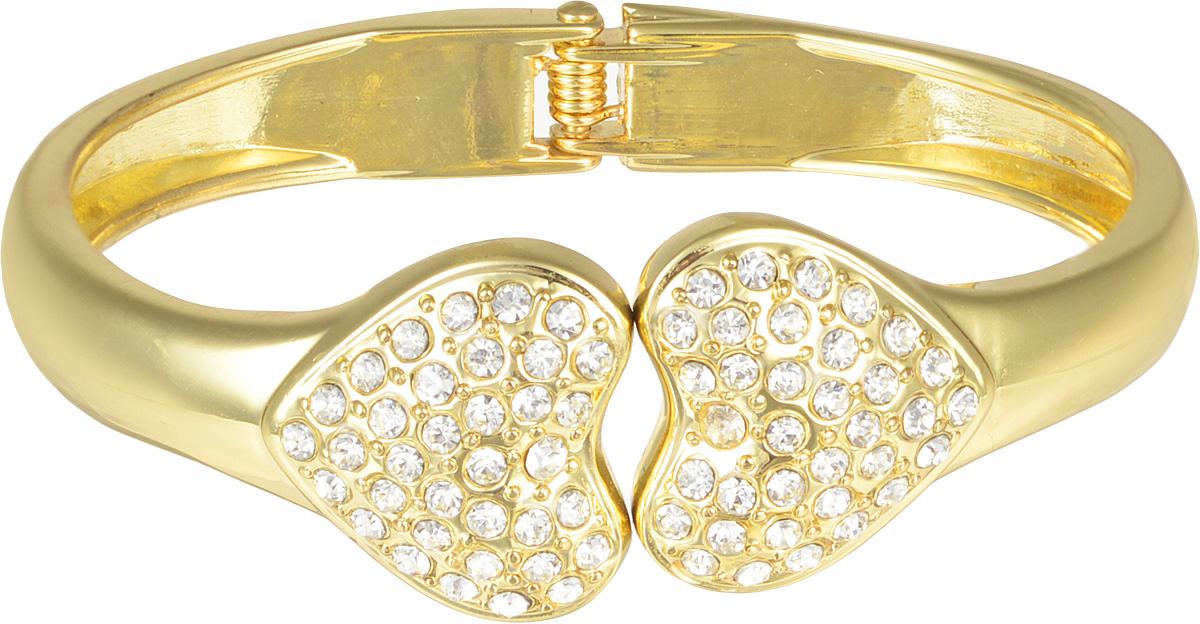 Браслет женский Taya, цвет: золото. T-B-7088-BRAC-GOLDT-B-7088-BRAC-GOLDМодный браслет дополнит повседневный и праздничный образ, подчеркнув достоинства женской ручки. Размеры: ширина 0,8 см, сердечки 2*2 см, обхват 21 см