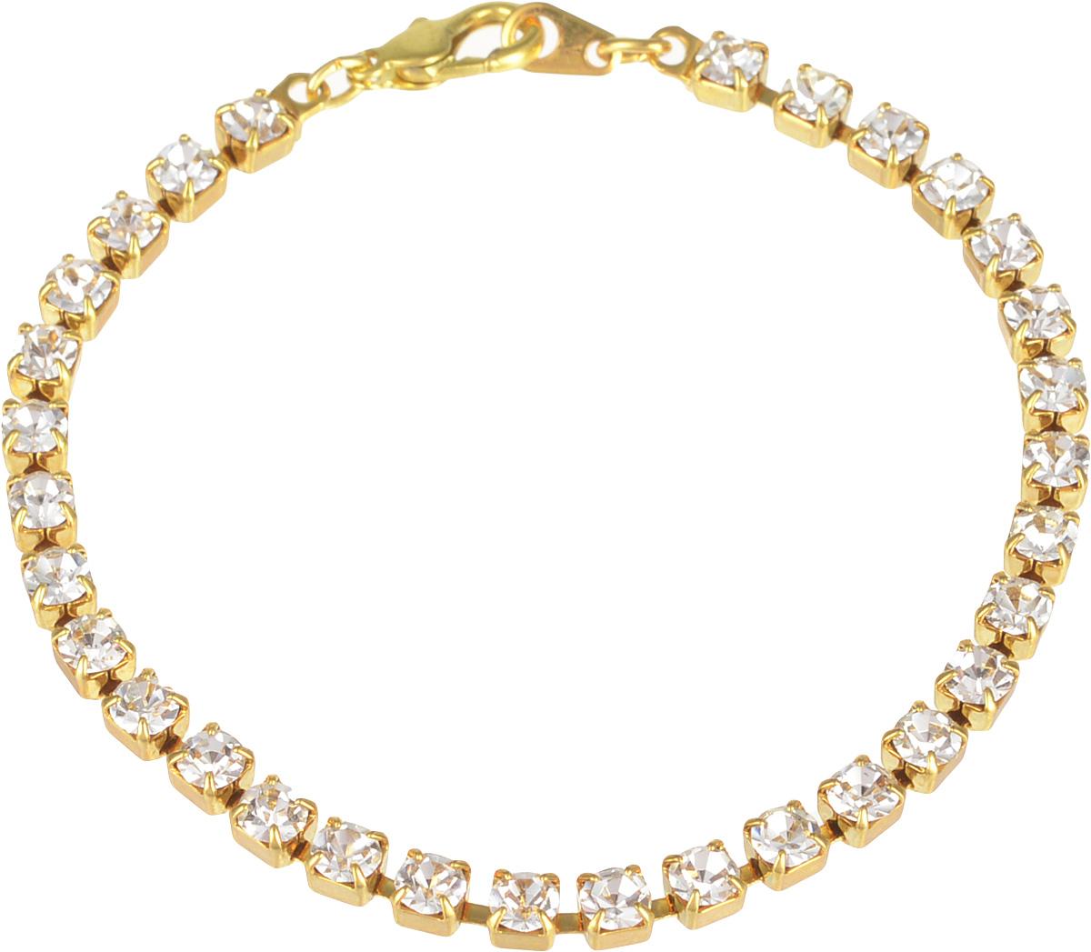 Браслет Bohemia Style, цвет: кристалл. 7457 6180 DS7457 6180 DS браслетоднорядный стразовый браслет,размер камня 4х4мм